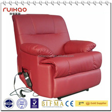 luxury leather electrical lift sofa push back recliner sofa RH-8403