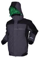 Best selling new style two in one style ski-wear jacket for men in grey color