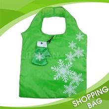 Nylon Folding Shopping Bag for Christmas