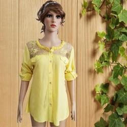 Design elegant women blouses tops/chiffon blouses with drapes