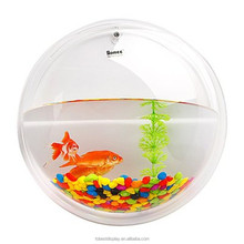 Custom acrylic wall hanging fish tank, hanging aquarium tank