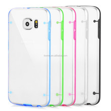 Transparent Clear Silicone Bumper Case Cover For Samsung Galaxy S6 Free Screen Protector