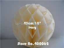 18inch Wedding giveaway novelty decorative flower honeycomb paper balls decoration wedding backdrop