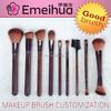 9pcs brown private label makeup brush set wholesale