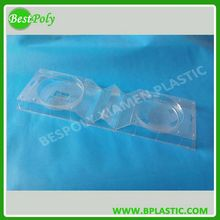 Clear disposable plastic clamshell fruit packaging