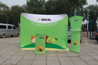 Hot products display for advertising printing/Arc type,size:2350*1540mm