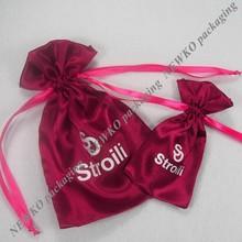 2015 New fashion chinese satin jewelry pouches
