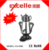 hot-sale multifunctional electric stainless steel turkish samovar with ceramice teapot