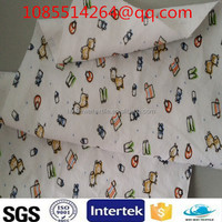 Baby/ Kid super quality promotional printed flannel fabric for making 100% cotton bed sheets