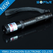 YG -851 one mode rechargeble led flashlight with laser pointer