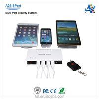 Retail mobile phone display security system,8-ports mobile phone/ tablet pc/ laptop security display and protection system A36