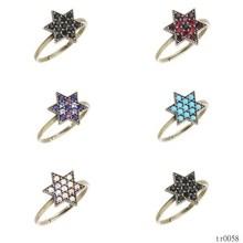 2015 fashion star shaped american diamond jewellery gemstone rings