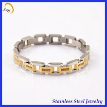 2015 top sale unisex style 316l stainless steel bracelet amber charm in stock