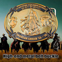 Fashion zinc alloy highlights personality belt buckle