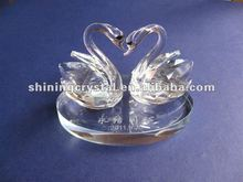 new arrival crystal swan crystal couple swans for wedding gift