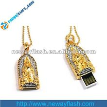 golden buddha jewelry diamond usb flash drive