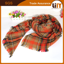 New authentic joker chaddar big square cape checked scarf manufacturer wholesale Europe and America style scarf