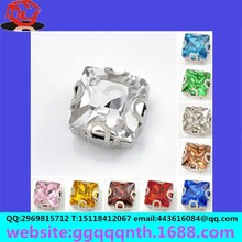 resin acrylic crystal glass round square oval teardrop horse eye octagonal point back Sewing diamond /stone