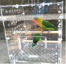 SGS certification clear acrylic bird feeder pets feeder small animal feeder