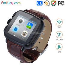 3G WiFi Leather Smart Watch Phone for LG, Sony, Samsung Watch