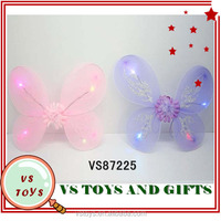 2014 new intelligence plastic butterfly wings wholesale with light