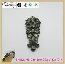 SHBU34512 hot sale rhinestone shoes accessory lady sandal buckle