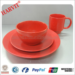 Free Sample 16PC Color Glazed Round Ceramic Tableware/New China Product For Sale Stoneware Dinnerware Sets