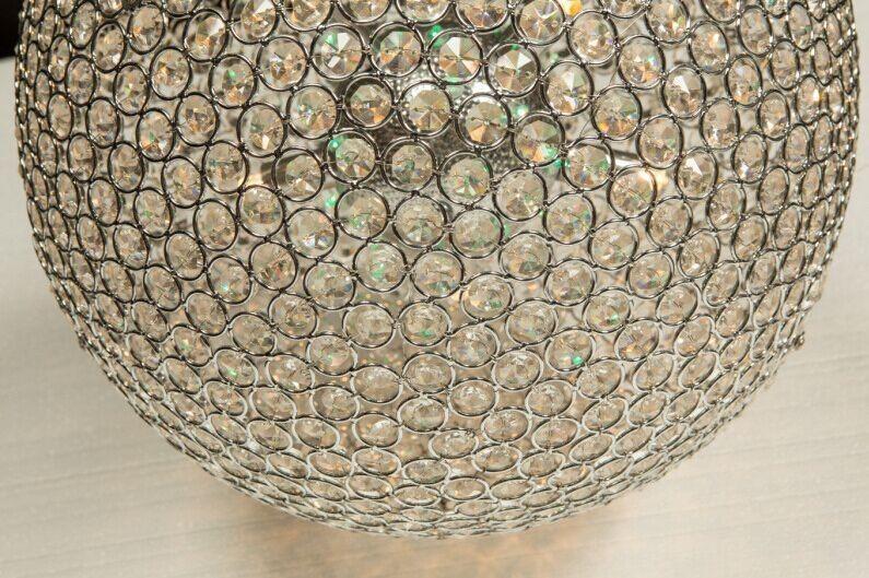elegante kristall ball pendelleuchte chrom farbe led. Black Bedroom Furniture Sets. Home Design Ideas