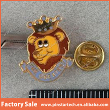2015 Alibaba China supplier wholesale Custom new products decor The Greatest Cartoon Lion w Crown Lapel or Tie Pin