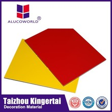 Alucoworld wasserdicht aluminium-verbundplatte verschiedene Arten Innenraum pe kork der wandverkleidung