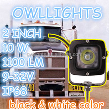 4x4 accessories small square high/low beam 10w led head light led work light automobile 12v 24v 10w led spot light