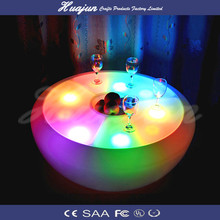 2015 hot sale plastic led table with led lighted