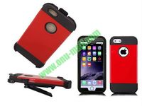 Hot New 4 in 1 Pattern Holster Belt Clip Hybrid Heavy Duty Case for iPhone 6 with Kickstand and Inner Screen Protector