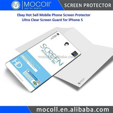 Ebay Hot Sell Mobile Phone Screen Protector Ultra Clear Screen Protector for iPhone 5 Screen Protective Film