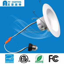 ETL Energy Star 14W smooth dimmable LED recessed can trim kit
