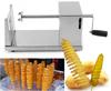 factory price manual potato ship slicer machine /tornado potato slicer