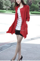 Новая весна осень desigual женщин кардиган случайные тонкий длинный стиль моды плюс размер пальто для женщин
