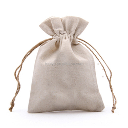 China Factory Promotional Calico Drawstring Bag