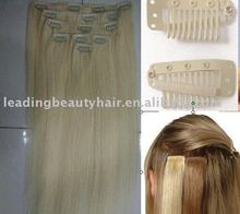 High quality Remy human hair Clip in extentions