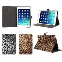 Sexy Leopard Leather Skin Pattern Print Flip Wallet Case For iPad mini 4