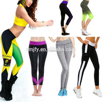 Newest 2015 fashion elegant sport fitness leggings for women exported to USA and EU good quality yoga leggings