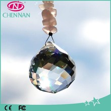Pujiang crystal glass manufacturer wholesale shiny glass ball prism sun catcher crystal ball