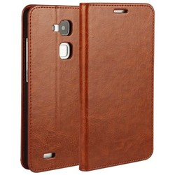 Crazy Horse Texture Flip Genuine Leather Wallet Case for Huawei Mate 7 Cover