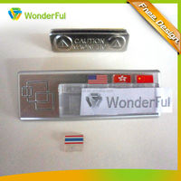 Popular Available High Quality Sliver Plated Hard Plastic Abs Strong Permanent Magnetic Name Badge