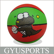 GY-D030 High quality cheap price rubber mini animal basketball for kids