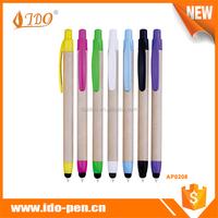 Plastic pen factory supply eco ball pen manufacturer