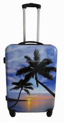 2015 NEW Design ABS PC luggage with printing pattern trolley luggage