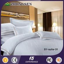 2015 hot sale hotel jaquard design bed sheets