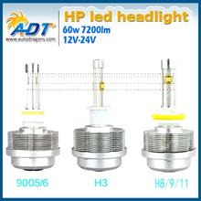New Model H7 Super Bright LED Headlight 7200LM 6000K White Beam 60W LED Bulbs Lighting Canbus LED