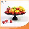 Hot good black colored glass cake dome stand for world market